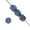 Glass Firepolished Beads Loose 8mm Transparent Montana Blue